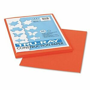 Strathmore Pacon Papers 103424 Tru Ray Sulphite Construction Pumpkin 50 Pac
