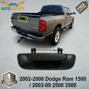 Textured Black Tailgate Handle For 2002 2008 Dodge Ram 1500 2003 09 2500 3500