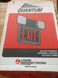 Lithonia Quantum Battery Powered rechargeable Exit Light Combo New