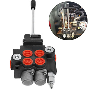 2 Spool Hydraulic Directional Control Valve 11 Gpm Motors Spool Double Acting
