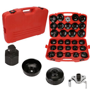 Universal 30 Pcs Cap Type Oil Filter Wrench Set Socket Tool Automotive Removal