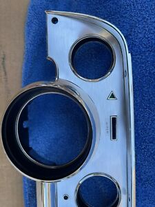 1967 Mustang Shelby Deluxe Instrument Cluster Brushed Aluminum Nos Oem C7zz 1083