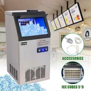 Zokop 150lb Commercial Ice Maker Stainless Steel Restaurant Bar Cube Machine Us