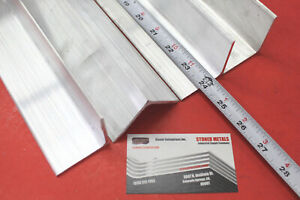 4 Pieces 2 x 2 x 1 8 Aluminum 6061 Angle Bar 24 Long T6 Extruded Angle Stock