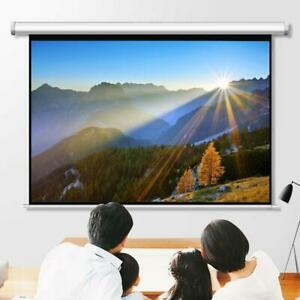 100 Pull Down Projector Screen Meeting Room Home Theater Hd Projection