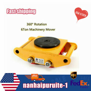 Machinery Mover Dolly Skate Roller Move 360 Rotation Heavy Duty 6ton 13200lb