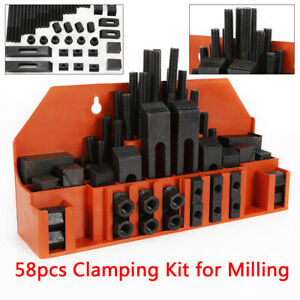 Clamping Kit For Drilling Milling Machine T slots Step Block Clamping 58pcs