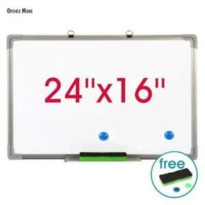 Magnetic White Board With Aluminum Frame Dry Erase Board Marker Pen 60 40cm Usa