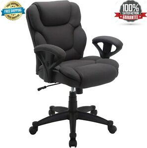 Fabric Manager Office Chair Big Tall 300 Lbs Gray Black Comfortable Computer