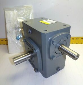 New Boston Gear 20 1 Ratio Right Angle Gear Speed Reducer 1 77 Hp 724 20 g