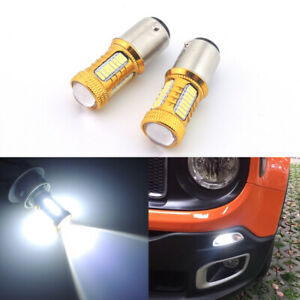 Xenon White Smd Cree Led Bulbs For 2015 Jeep Renegade Daytime Running Light Drl