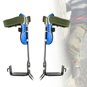 Adj Tree pole Climbing Spike Safety Protective Belt Straps Lanyard Rope Rescue