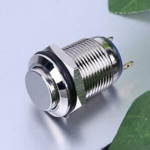 12mm Waterproof High Top Momentary Metal On off Push Button Switch