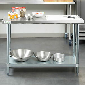 Work Prep Table With Undershelf Commercial Restaurant Stainless Steel 18 X 48