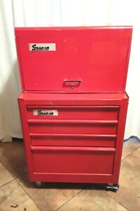 Vintage Snap On Tool Cabinet Rolling Cabinet With Matching Tool Box Rare