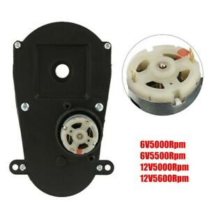 Rs380 Gear Box Electric Motor Steering Gearbox Low Noise For Kids Car Black Us