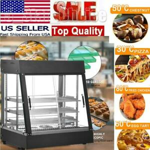 26 Commercial Food Warmer Court Heat Food Pizza Display Warmer Cabinet Glass