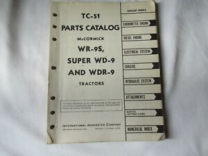 Ih International Mccormick Wr 9 Wd 9 Wdr 9 Tractor Parts Catalog Manual Book