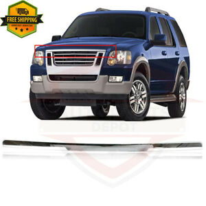 New Hood Molding Chrome For 2006 2010 Ford Explorer 4 Door Fo1235105 6l2z16856aa