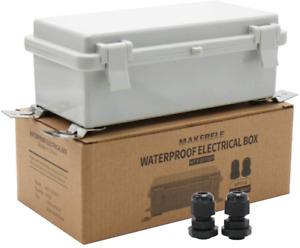 Makerele Waterproof Electrical Box Outdoor Junction Hinged Cover Plastic Clip 7