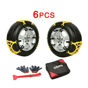 6pcs Thick Tendon Emergency Thickening Snow Anti Skid Tire Chains Of Car Suv Us Fits Chevrolet