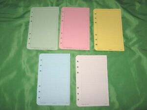 Compact 50 Pages Rainbow Color Lined Note Sheets Franklin Covey Planner Refill B