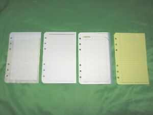 Compact 62 Pages Variety Lined Note Sheets Franklin Covey Planner Refill Fill