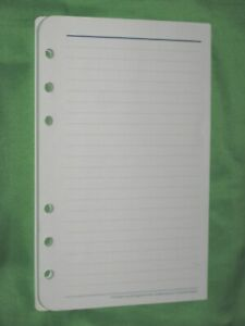 Compact 50 Pages Blue Wide Lined Note Sheets Franklin Covey Planner Refill