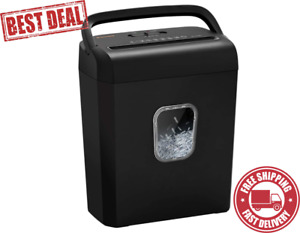 6 sheet Micro cut Paper Shredder P 4 High security For Home Small Office Use