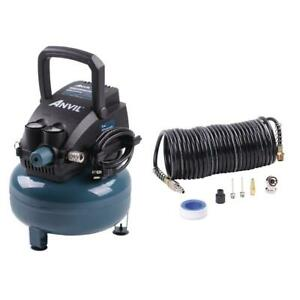 Anvil 2g Pancake Air Compressor With 7 piece Accessories Kit