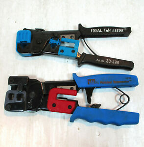 2 Ideal Network Crimping Cutting Strip Tools Telemaster 30 496 Ratchet 30 696