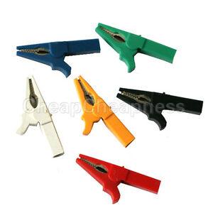 Multicolor Alligator Clip For Banana Plug Test Cable Probes Insulate Clamp id