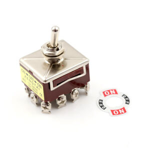 Toggle Switch 3 Position 12 Pin 4pdt On off on 10a 380vac 15a 250vayjid