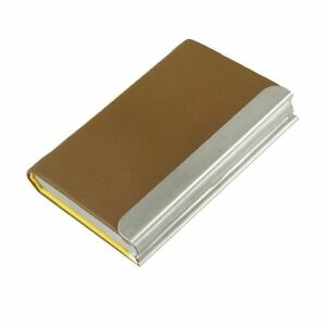 New Uxcell Faux Leather Coated Metal Name Card Case Businessmen Business Holder