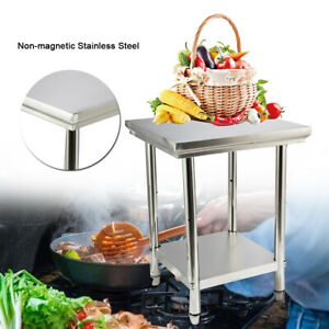 Stainless Steel Table For Prep Work With Shelf 24 x24 x32 Kitchen Table