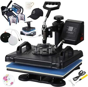 Upgraded 8 In 1 Heat Press Transfer Machine Combo T shirt Printing Sublimation