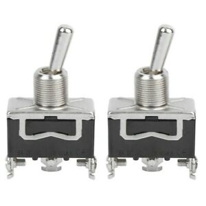2 Pcs Mini 15a 250v Ac Spdt 3 pin 2 Positions On on Toggle Switch Diy Electrical