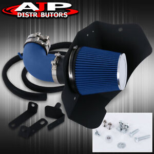Blue Wrinkle Finish Air Intake Piping Heat Shield For 2009 2015 Cts V V8 6 2l