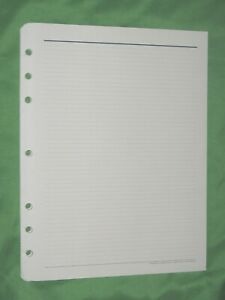 Monarch 56 Blue Lined Note Pages Franklin Covey Planner Refill Fill 8 5x11