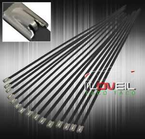 15x 12 Self Locking Cable Zip Tie Strap Stainless Wrap Electric Cable Wire