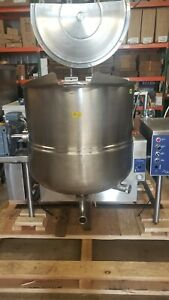 Cleveland Model Ha mkgl 80t Steam Kettle With Mixer natural Gas 80 Gallon