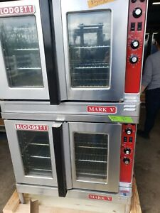 Blodgett Mark V Double Deck Convection Oven electric 208v 3phase