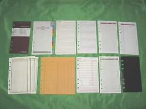 Compact Tab Page Expense Envelope Refill Lot Day Runner Planner Franklin Covey