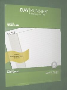 8 5x11 Note Pad 30 Sheets Pages Day Runner Planner Monarch Franklin Covey