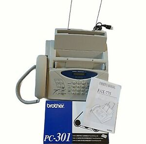Brother Intellifax 775 Plain Paper Thermal Transfer Fax Machine One Cartridge