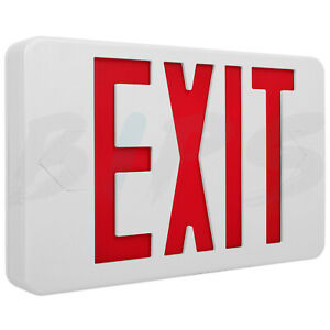 Led Emergency Exit Sign Light Red Letter Back up Battery Ul Listed Fire proof