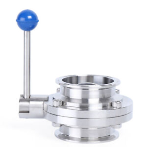 3 Sanitary Stainless Steel 304 Butterfly Valve Tri Clamp Food Grade Brand Us