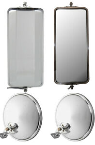 Universal West Coast Heated Mirrors And 8 5 Chrome Offset Convex Mirrors
