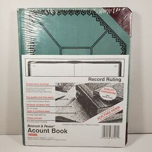 Boorum Pease Record account Book Blue red Cover 150 Pages 9 5 8 X 7 5 8 New