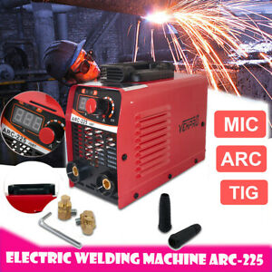 Welder Gas Less F lux Core Wire Automatic 110 V Arc 225 A With Accessories Kit